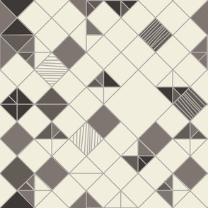 square grid in beige