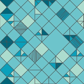 square grid in turquoise