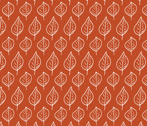 Woodland Red Leaf (Large) fabric by floramoon on Spoonflower - custom fabric