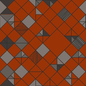 square grid in orange