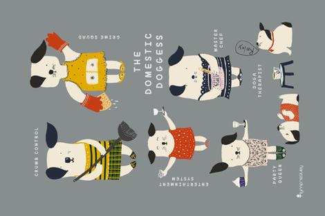 Animals-ss-Lynn Priestley fabric by lynnpriestleydesign on Spoonflower - custom fabric