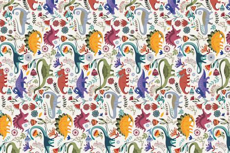 dinogarden fabric by geetanjali on Spoonflower - custom fabric