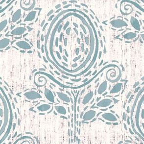 Seed- Teal and Cream
