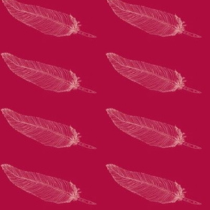 Whispering Feather-Whispering lemonOnVibrantRed-
