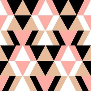 geometric shapes in blush and peach