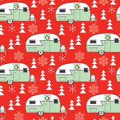 medium christmas trailers-on-red