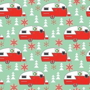 medium christmas trailers-on-green