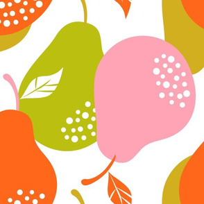 Pear Pattern1_Eco Canvas_Spoonflower