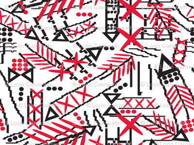 african tribal arrows red_black_on white-ed