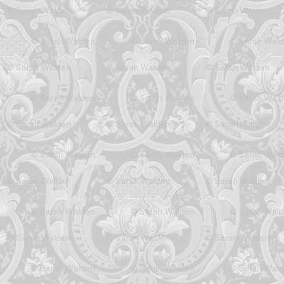 Adelaide Damask ~ Greyscale ~ Original