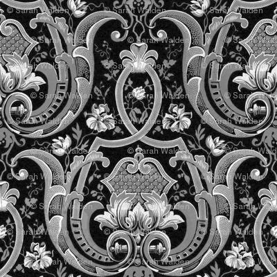 Adelaide Damask ~ Black and White