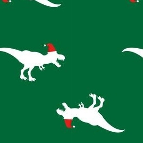 Christmas TREX Santa Hat Green-01