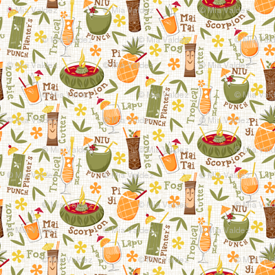 Luau Hawaiian Cocktails_pattern
