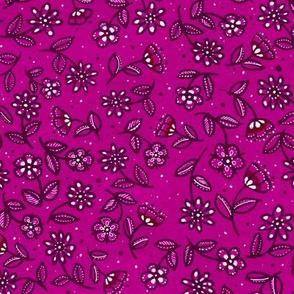 Fuchsia Doodle Wildflowers
