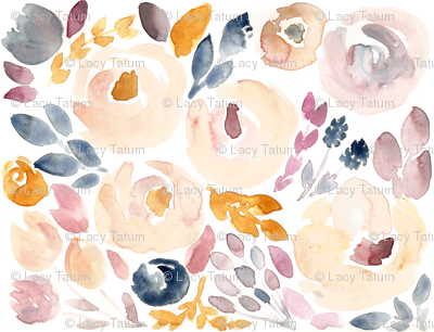 Soft Floral Fall Watercolor