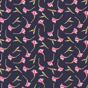 Lily Scatter on Navy