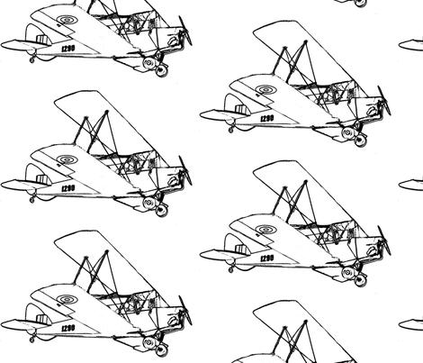 large plane  fabric by koalalady on Spoonflower - custom fabric