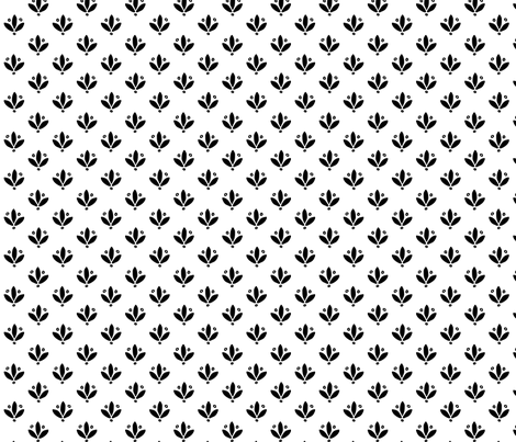 Fleur Spots in Black fabric by house_designer on Spoonflower - custom fabric