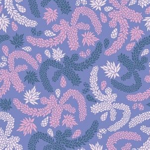 Purple Succulent Garden Texture