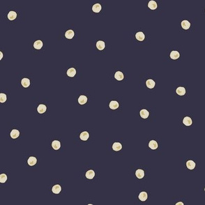 Painted Dots Scatter Gold on Navy