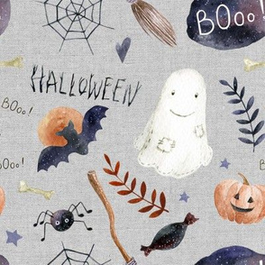 "8"" Halloween Night // Gray Linen"