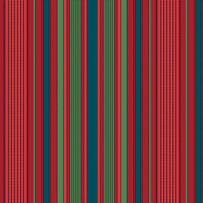 Madras Stripe in holiday colors