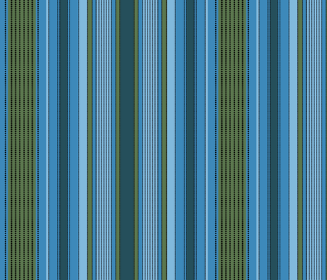 Madras Stripe_blues and green fabric by incognitoshop on Spoonflower - custom fabric