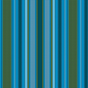 Madras Stripe_blues and green