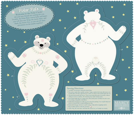 Polar Pals - Twinkle Cut and Sew fabric by marcy_horswill_design on Spoonflower - custom fabric