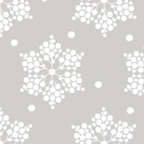 winter berries snowflakes