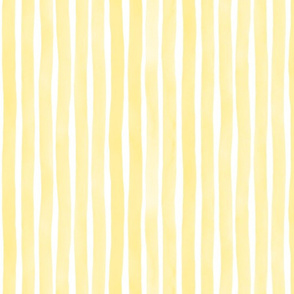 Vertical Watercolor Stripes M+M Sunshine by Friztin
