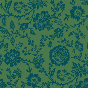 Olivia - Navy on Holly Green