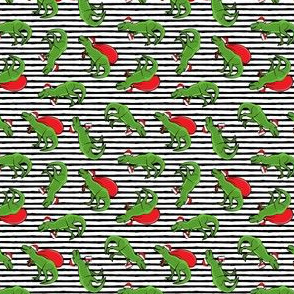 "(1"" scale) Christmas Trex - toss on black stripes C18BS"