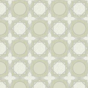 trellis tile 02 gray green