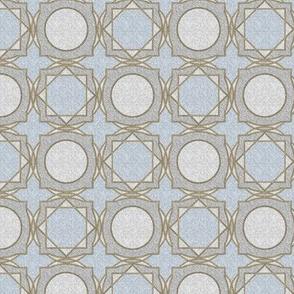 trellis tile 02 blue gold