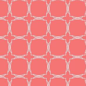 trellis tile coral