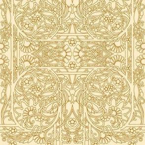 Simple Flowery Line Drawing #8014146