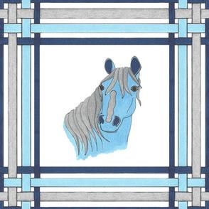 Petbar in Sapphire Blue Plaid