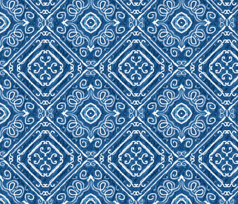 Country cowboy, Denim and Navy Blue fabric by palifino on Spoonflower - custom fabric