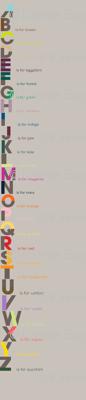 Alphabet in Colors-half drop