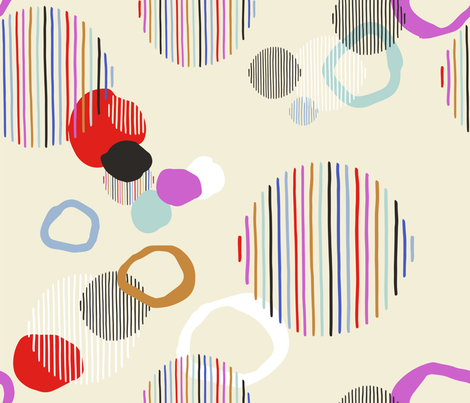 Abstract Kindness fabric by lisa_herse_design on Spoonflower - custom fabric