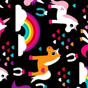 Unicorn rainbow dream adorable horse illustration for girls flipped rotated