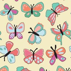 Butterflies on Yellow