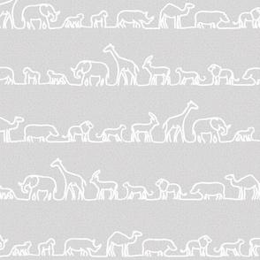 Safari Outlines on Grey