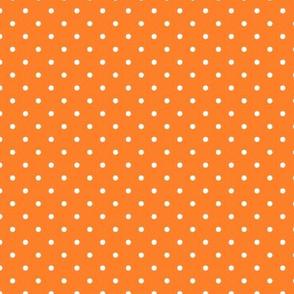 Orange and White Polka Dot Print