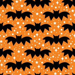 aloha bats on orange with sparkles
