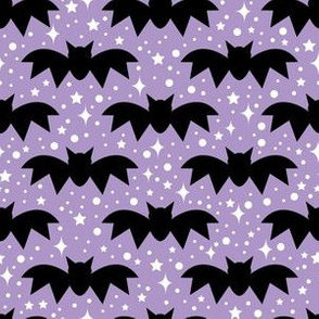 aloha bats on light grape with sparkles