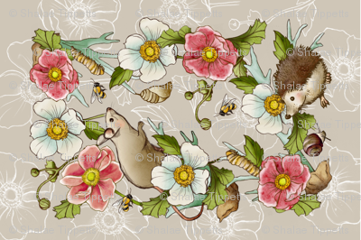 Meadow Animals Tea Towel