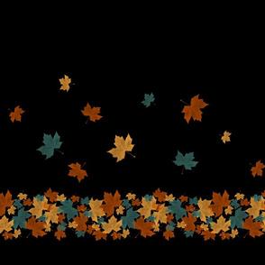 Falling Leaves - bordered yardage