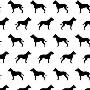Pit Bull Black Dog Silhouette